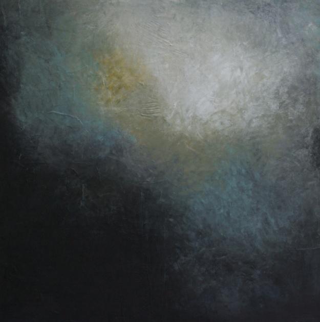 """Silence 10 (1237) 42x42"""" Oil on panel"""